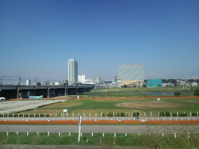 久しぶりの多摩川